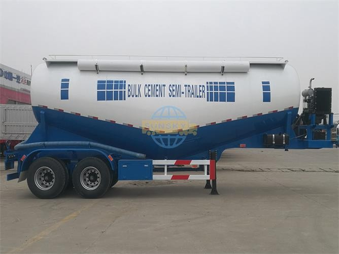 30m3 2-axles bulk cement semi trailer