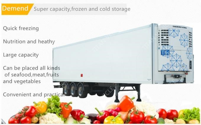 High Quality Semi Trailer 20ft 40ft 53ft refrigerated truck trailer