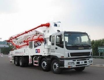 Used ISUZU-Hongda 37m pump truck