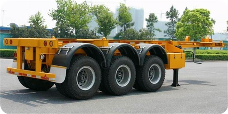 3* 13 tons capacity Second hand Skeleton semi trailer