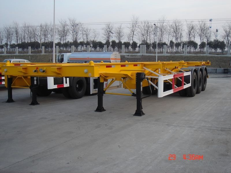 2* 13 tons capacity Second hand Skeleton semi trailer