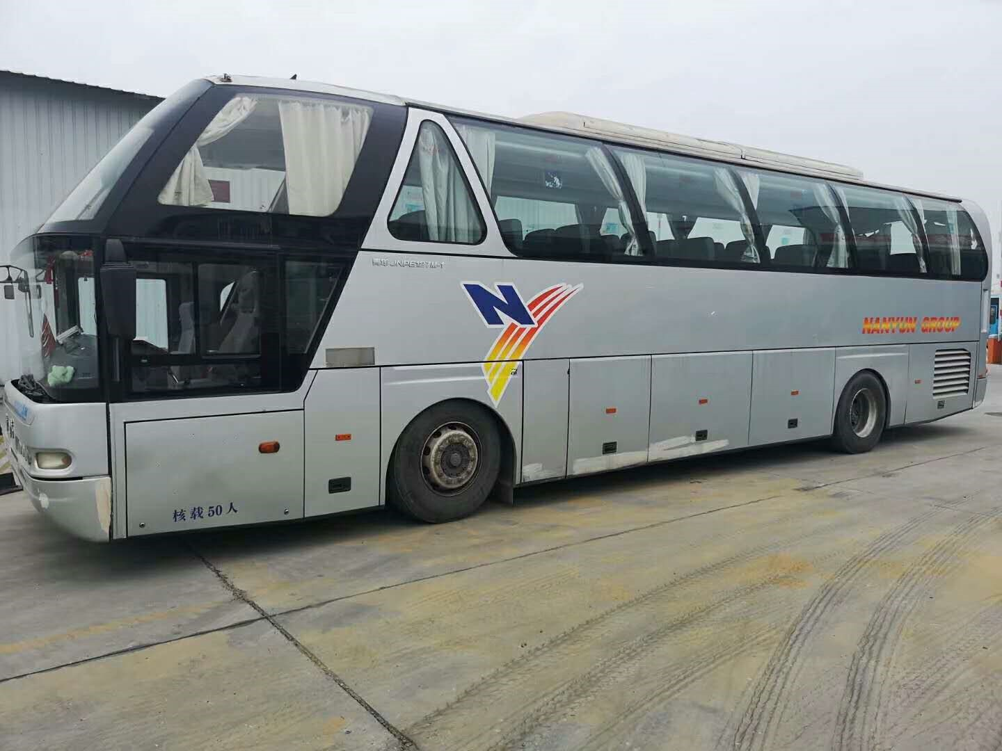 2013 year 50 seat  China V Used Coach buses Youngman Brand  Double Auto Door with great airbag